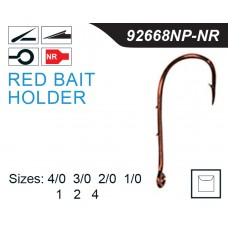 Mustad Red BaitHolder Hook 92668NP-NR