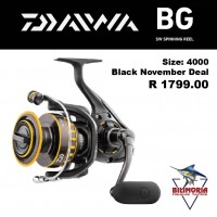 "Daiwa BG 4000 Spinning Reel- ""BLACK FRIDAY SPECIAL"" ( was R1899.00 now R1799.00)"