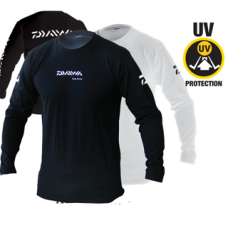 Long Sleeve Cotton T-Shirt with Daiwa Logo
