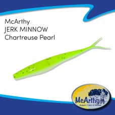 "McArthy Dropshot Jerk Minnow 4"" CHARTREUSE PEARL  10P/P"