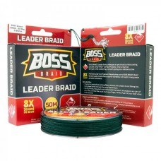 BOSS BRAID LEADER 8X 100LB 50M GREEN