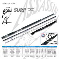 """Assassin Surf 12ft Medium Heavy 3pc Short Butt Spinning """"CHRISTMAS SPECIAL"""""""